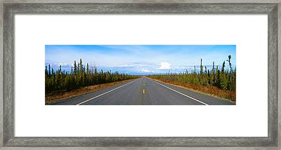 Road To Wrangell, St. Elias National Framed Print by Panoramic Images