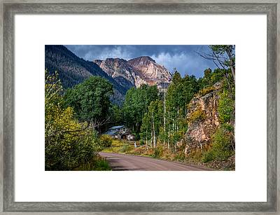 Road Towards Cinnamon Pass Framed Print