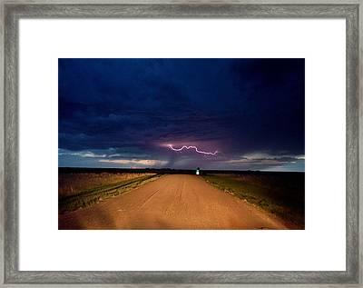 Road Under The Storm Framed Print