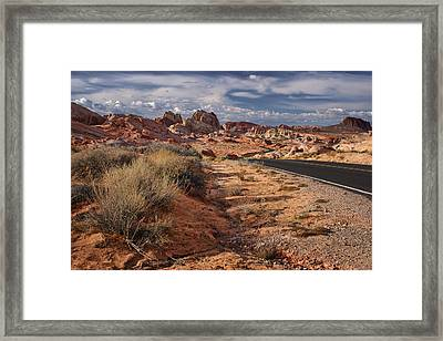 Road - Valley Of Fire - Nevada Framed Print