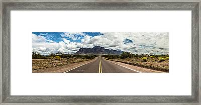 Road View Framed Print