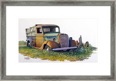 Road Warrior Retired Framed Print by Bob  Adams