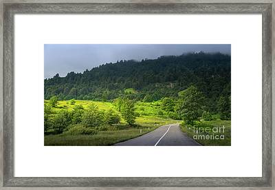 Road With A View Framed Print by Svetlana Sewell