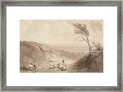 Road Workers, Near Lillebonne Framed Print by Richard Parkes Bonington