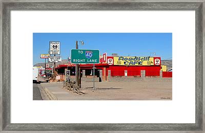 Roadkill Cafe, Route 66, Seligman Arizona Framed Print