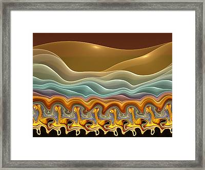 Roadrunner Races Framed Print by Amorina Ashton