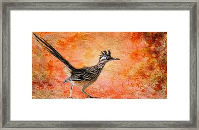 Roadrunner's Sunrise Framed Print
