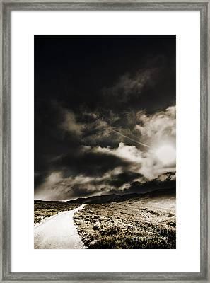 Roads Of Atmosphere  Framed Print