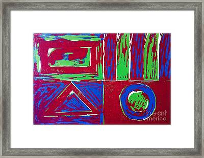 Roadside And Road Signs Abstract Framed Print by Joan-Violet Stretch