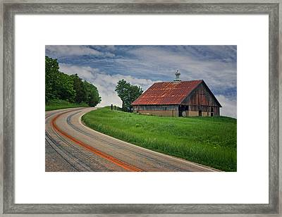 Roadside - Barn - Missouri Framed Print by Nikolyn McDonald