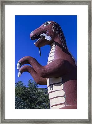 Roadside Dinosaur Framed Print by Garry Gay