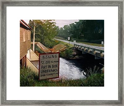 Roadside Fishing Spot Framed Print by Doug Strickland