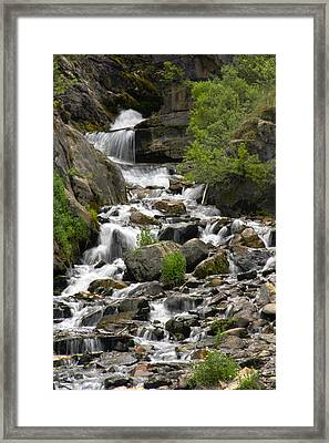 Roadside Mountain Stream Framed Print by Mike McGlothlen