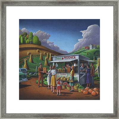 Roadside Produce Stand - Fresh Produce - Vegetables - Appalachian Vegetable Stand - Square Format Framed Print by Walt Curlee