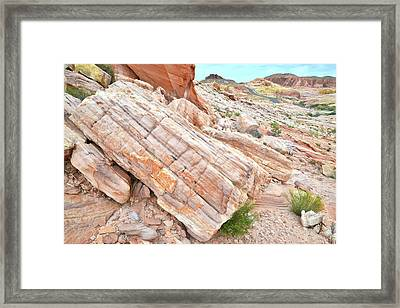 Framed Print featuring the photograph Roadside Sandstone In Valley Of Fire by Ray Mathis