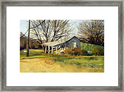 Roadside Stand Framed Print by Donald Maier