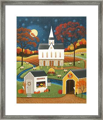Roadside Stand Framed Print by Mary Charles