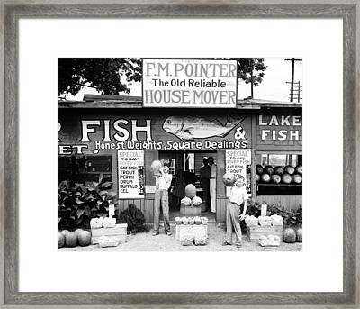Roadside Stand Near Birmingham Framed Print by Everett