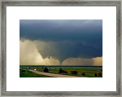 Roadside Twister Framed Print
