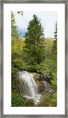Roadside Waterfall In North Carolina Framed Print by Mike McGlothlen
