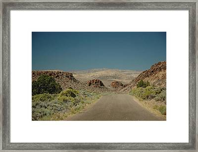 Roadway To Peace Framed Print by Lori Mellen-Pagliaro