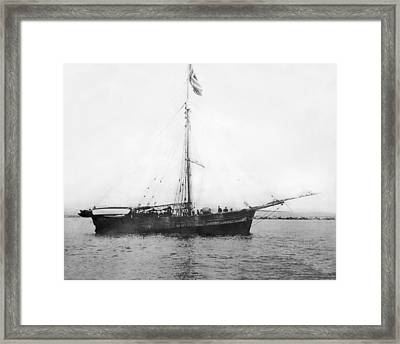 Roald Amundsen Arrives In Nome Framed Print by F.H. Nowell