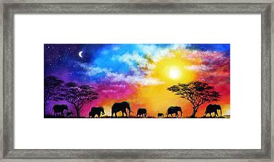 Roaming Skies Framed Print