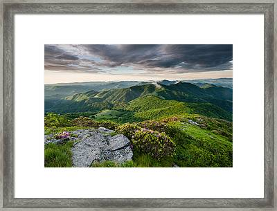 Roan Highlands Southern Appalachian Trail Spring Scenic Framed Print by Mark VanDyke