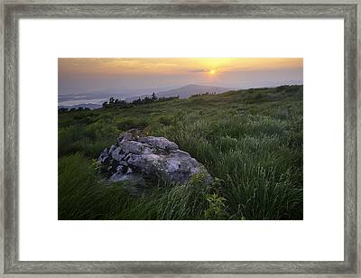 Roan Mountain Highlands Sunrise - Appalachian Trail Scenic Landscape Framed Print