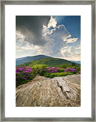 Roan Mountain Rays- Blue Ridge Mountains Landscape Wnc Framed Print
