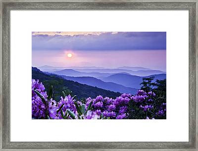 Roan Mountain Sunset Framed Print by Rob Travis