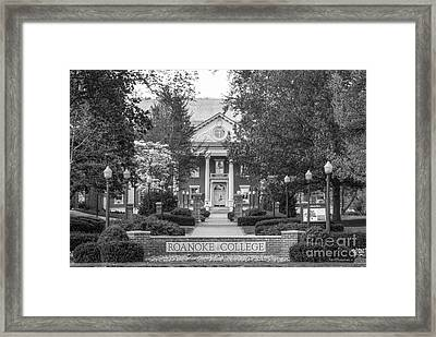 Administration Building Roanoke College Framed Print by University Icons