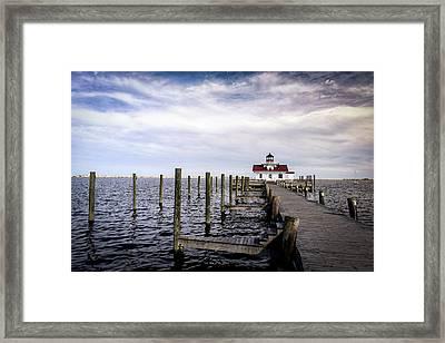 Roanoke Lighthouse - Manteo North Carolina Framed Print