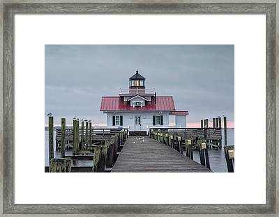 Roanoke Marshes Lighthouse Framed Print by Cindy Archbell