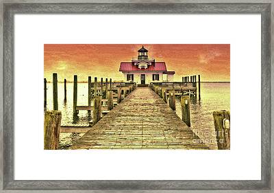 Roanoke Marshes Lighthouse Framed Print by Lydia Holly