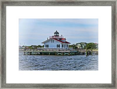 Roanoke Marshes Lighthouse Framed Print by Phyllis Taylor