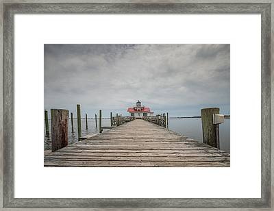 Outer Banks North Carolina Roanoke Marshes Lighthouse Framed Print