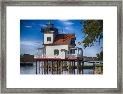 Roanoke River Lighthouse North Carolina  Framed Print