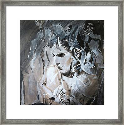 Roarie Yum  Framed Print by Geff Strik