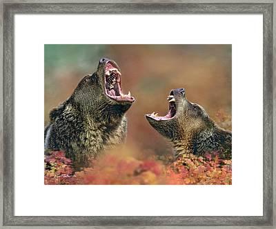 Roaring Bears Framed Print