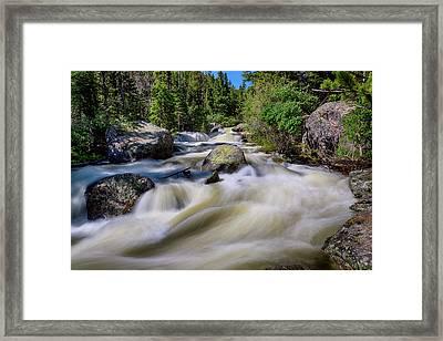 Roaring Colorado Ouzel Creek Framed Print by James BO Insogna