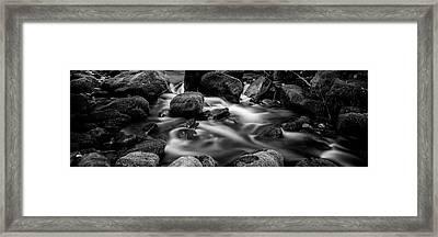 Roaring Fork Cascade - Bw Framed Print by Stephen Stookey