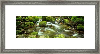 Roaring Fork Cascade Framed Print by Stephen Stookey