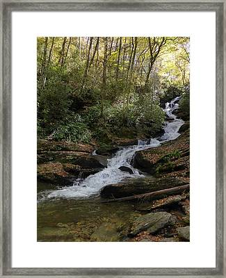 Roaring Fork Falls - October 2015 Framed Print by Joel Deutsch