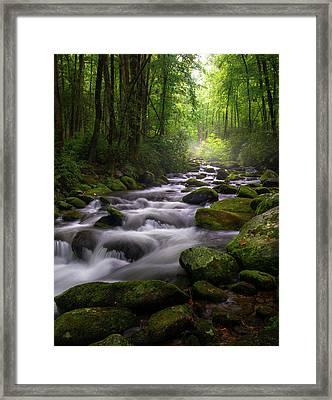 Great Smoky Mountains Roaring Fork Gatlinburg Tennessee Framed Print