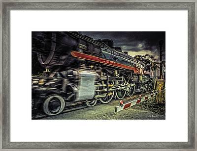 Roaring Past Framed Print