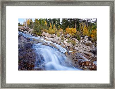 Roaring River Waterfalls At Alluvial Fan - Rocky Mountain National Park - Estes Park Colorado Framed Print by Silvio Ligutti