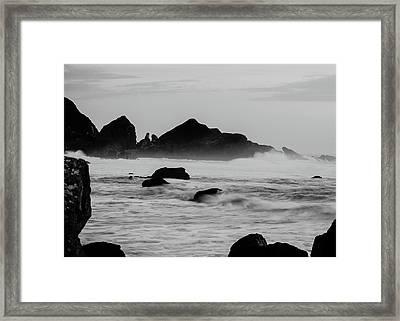 Roaring Seas Framed Print