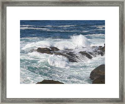 Roaring Water Framed Print by Barb Morton