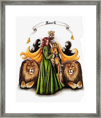 Roark Crest Interpretation Framed Print by Scarlett Royal